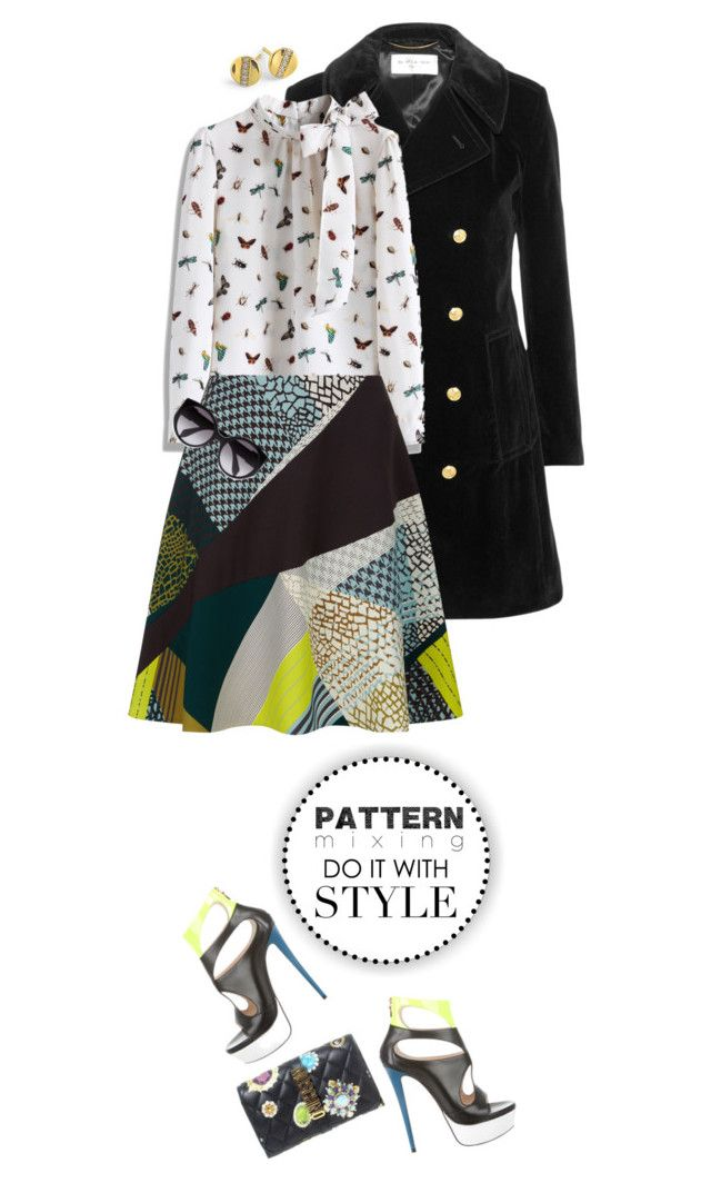 """""""Head-to-Toe Pattern Mixing"""" by shortyluv718 ❤ liked on Polyvore featuring Ippolita, Yves Saint Laurent, Chicwish, Jaeger, Moschino, Ruthie Davis, Alexander McQueen and patternmixing"""