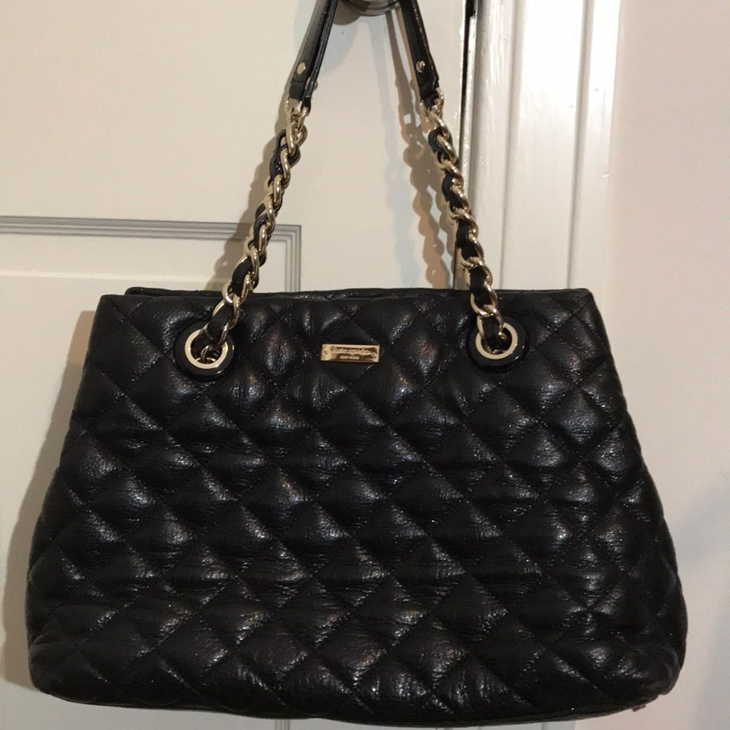 Kate Spade Black Quilted Purse Black Quilt And Products