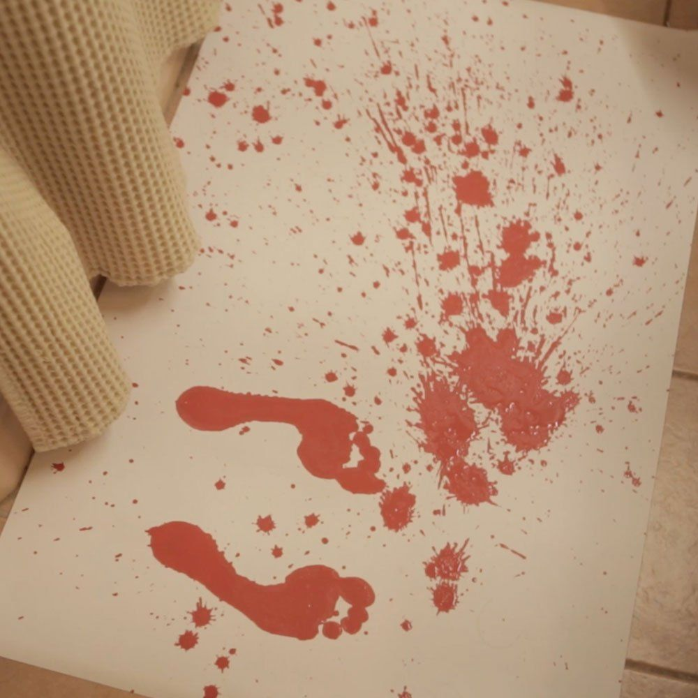Color changing bloody bath mat in sharksbc reasons