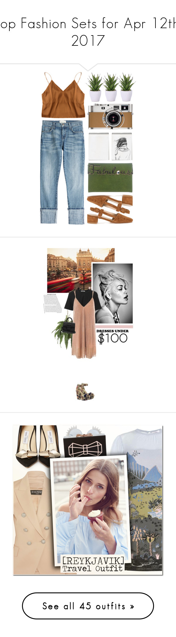 """""""Top Fashion Sets for Apr 12th, 2017"""" by polyvore ❤ liked on Polyvore featuring Lux-Art Silks, Current/Elliott, Maryam Nassir Zadeh, Charlotte Olympia, Hermès, Versus, ASOS, T By Alexander Wang, Sans Souci and Maison Margiela"""