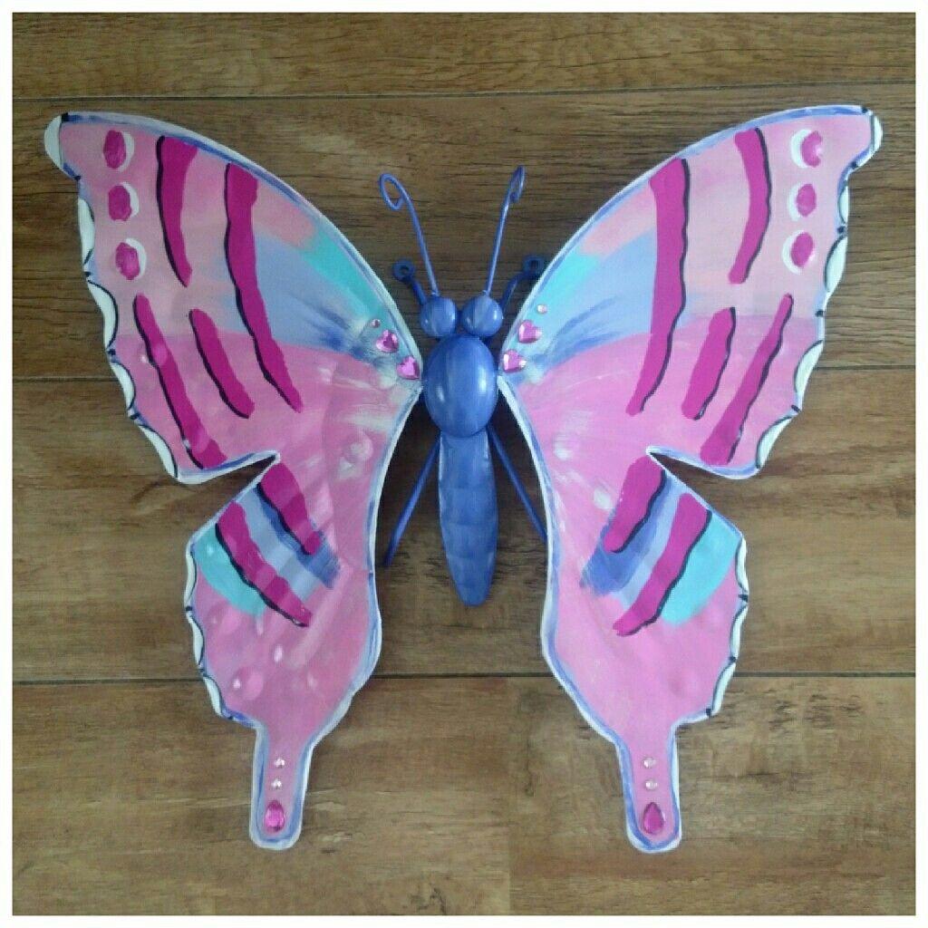 Made This One For A Little Child Www Creativeartbyjessica Nl Vlinder Vlinders Butterfly Tuindecoratie Tuin Tuinieren Ter Vlinders Handgemaakt Tuinieren