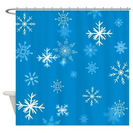 Christmas Snowflakes Arctic Blue Shower Curtain By 13 Tactical