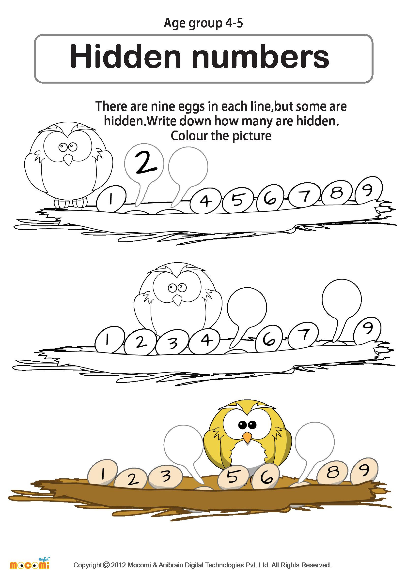 Pin On Preschool Math Worksheets
