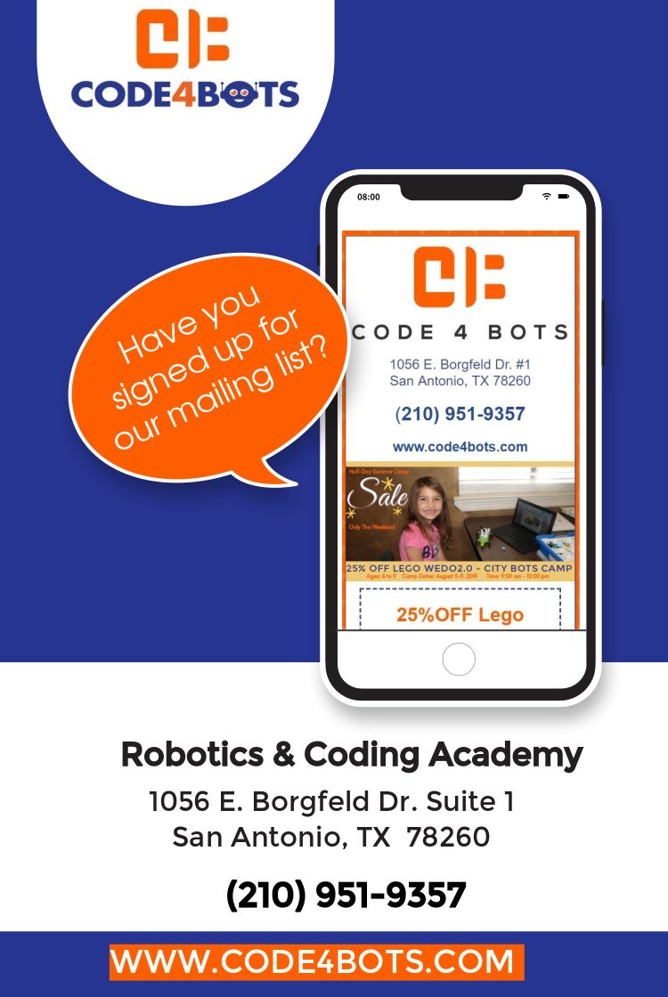 Code4bots Coding Academy Summer Camp List