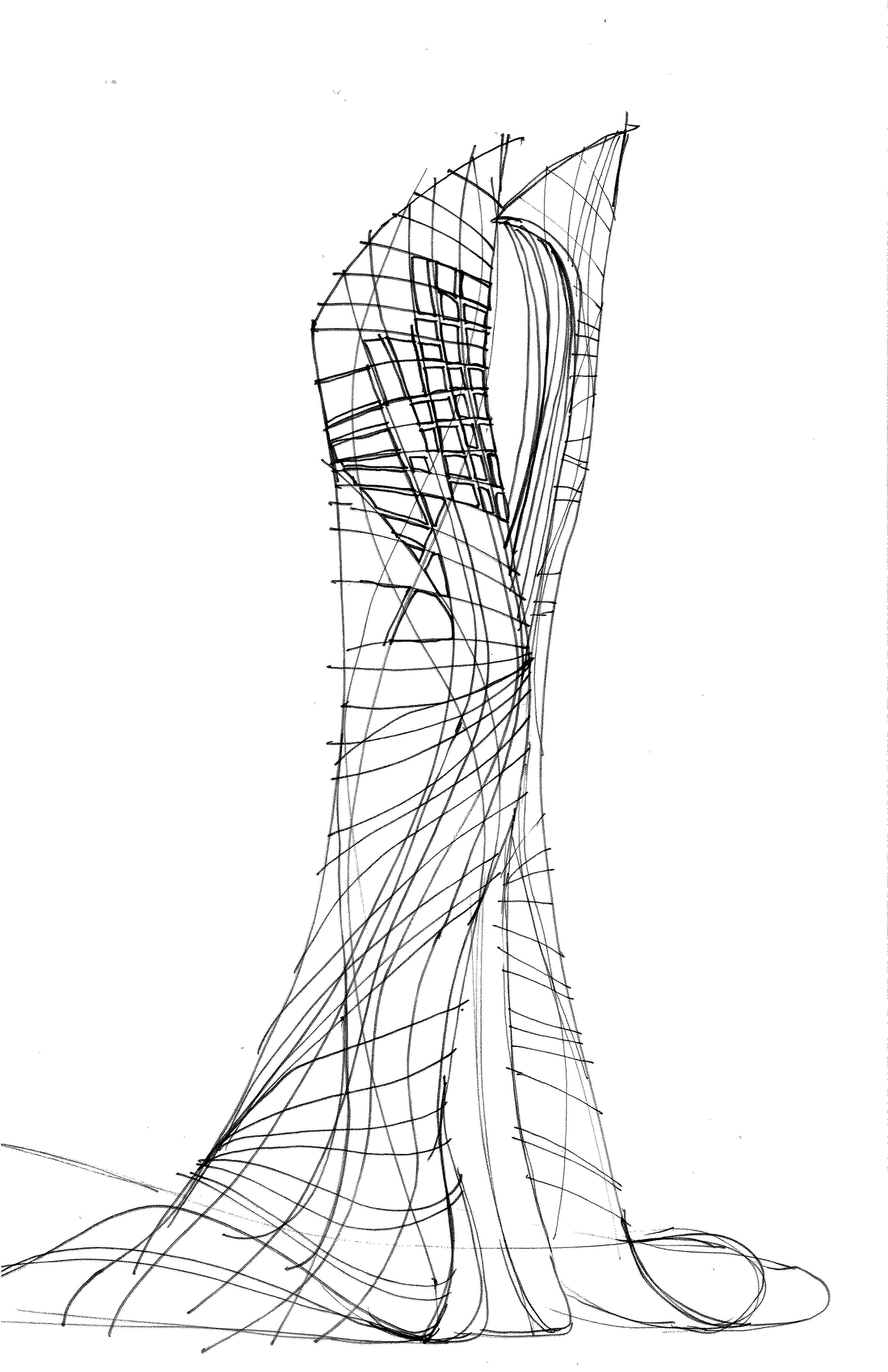 Skyscraper Concept 6 Architectural SketchesSkyscrapers