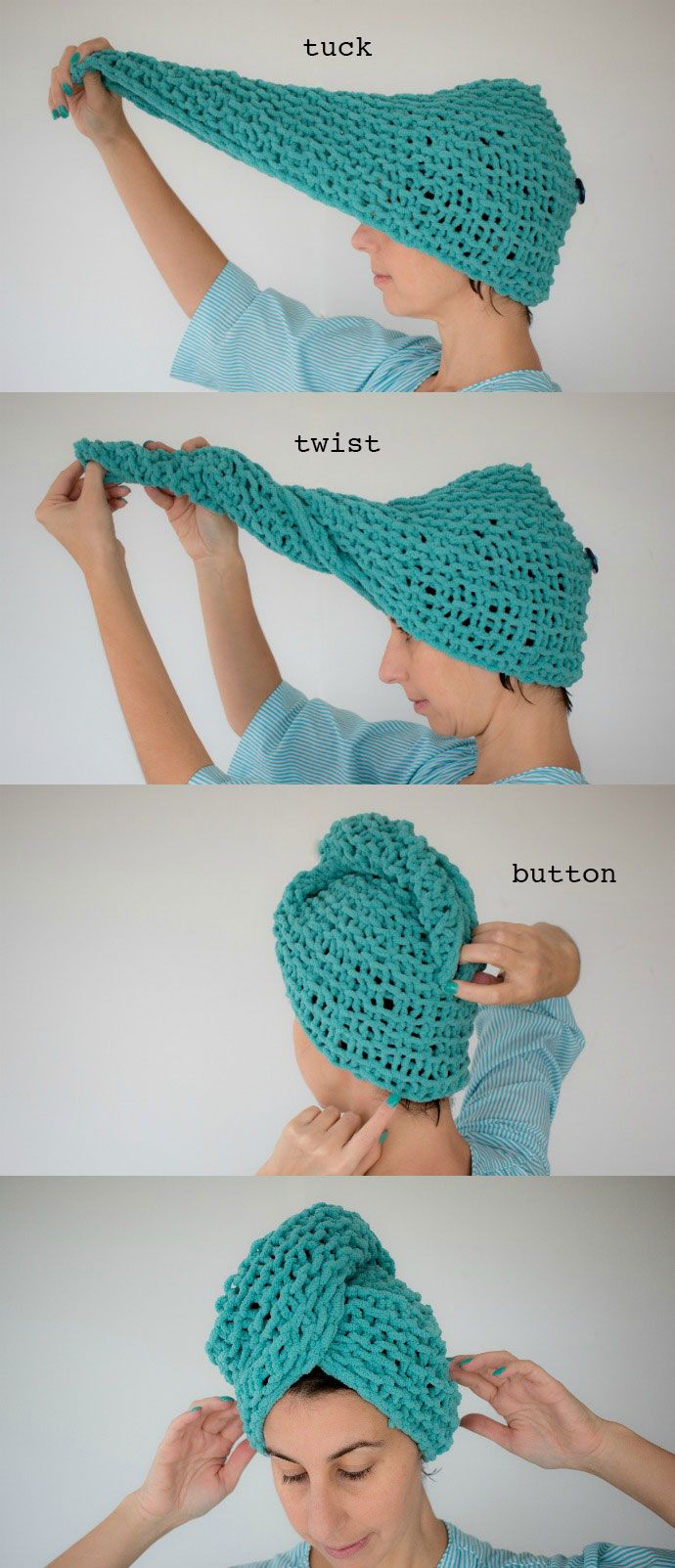 Knitting Pattern - After Shower Hair Turban | Small ...