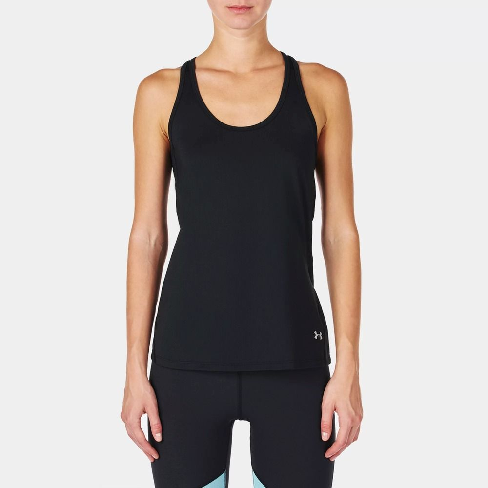59a1672b8d New Under Armour Womens Black UA Coolswitch Running Tank Top Fitted ...
