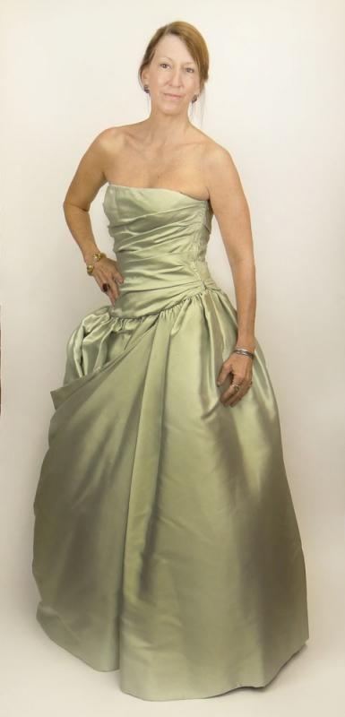 Victor Edelstein Designer Strapless Princess Ball Gown