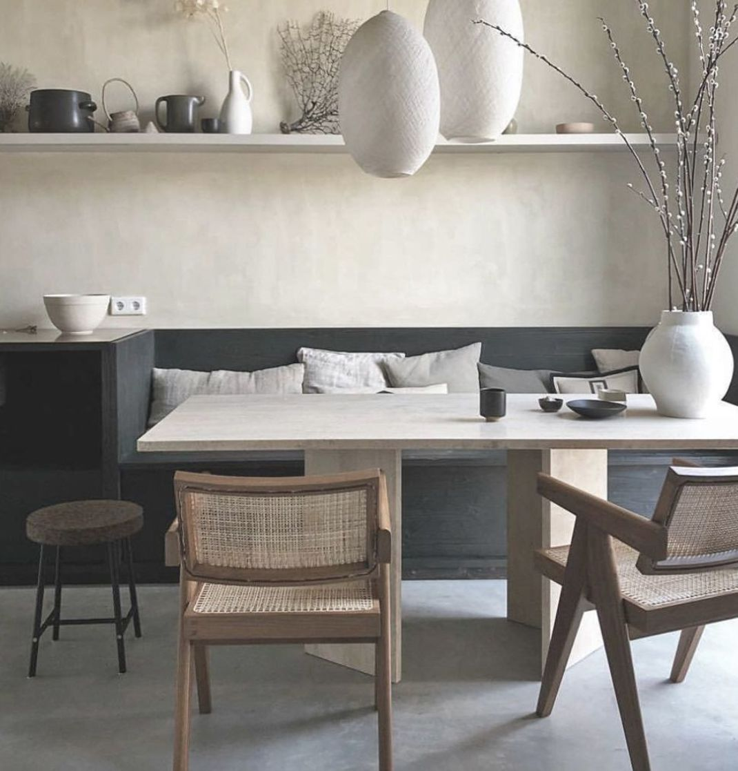 """NATHAN LINDBERG on Instagram: """"Beautiful interior styling by @cleoscheuldermans with nice Jeanneret chairs and cool arrangement, fantastic. #pierrejeanneret…"""""""