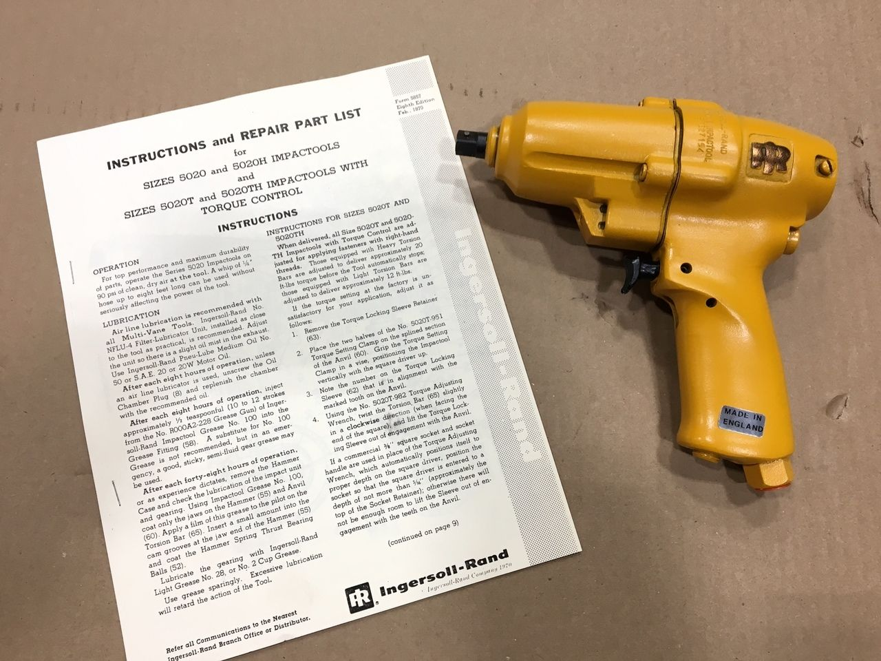 """E Air Tool 1 Pneumatic 3/8"""" Square Drive Impact Wrench"""