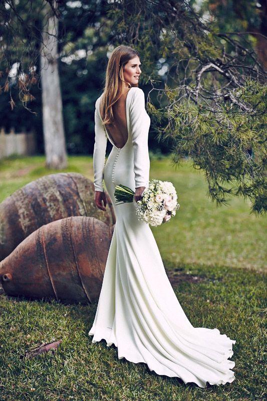 Der Brautmode-Trend 2017: Schlichte Brautkleider, die du lieben ...