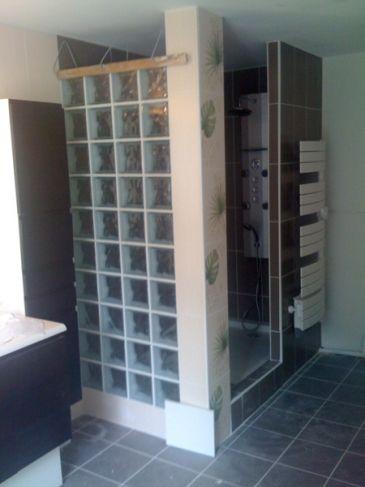 poser des carreaux de verre beautiful prix duune cloison. Black Bedroom Furniture Sets. Home Design Ideas