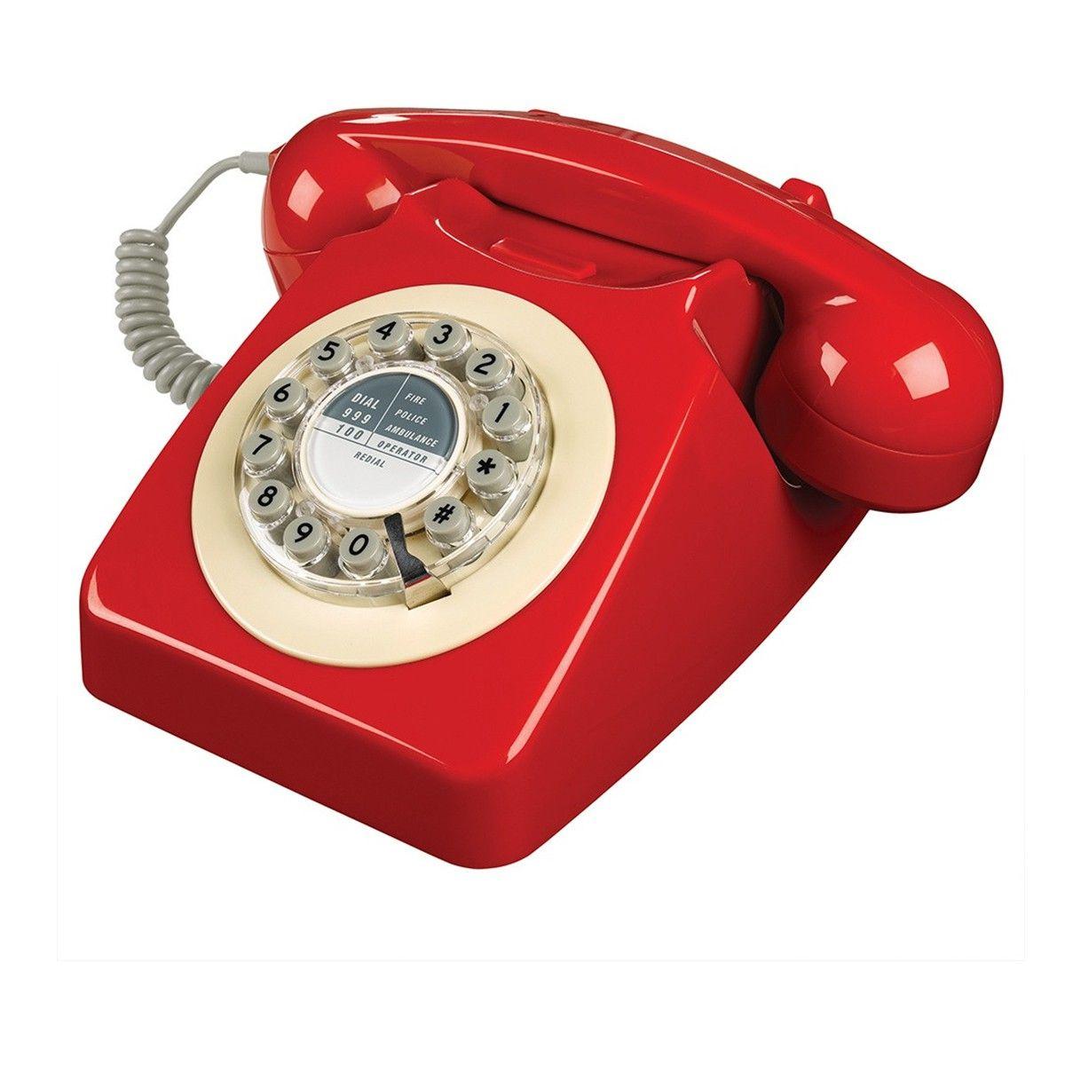 Téléphone 60's style - Rouge - Wild