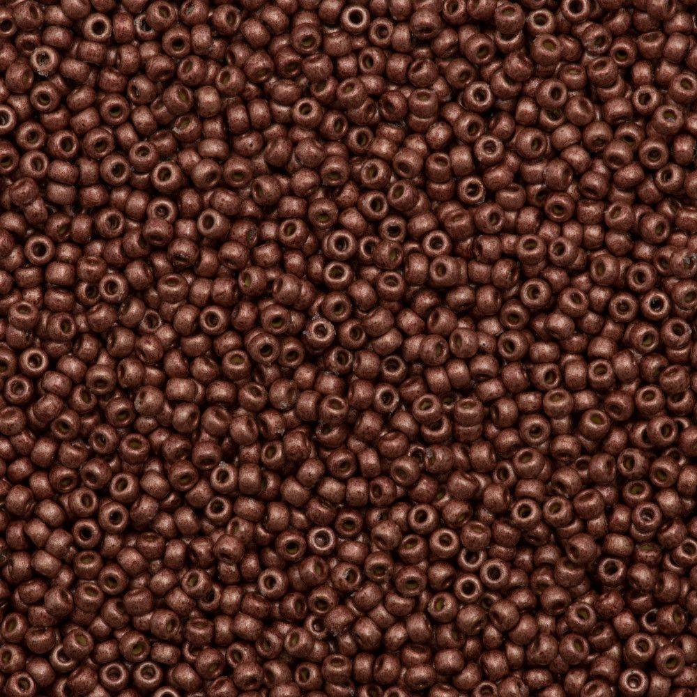 Miyuki round seed bead duracoat matte galvanized dark berry g