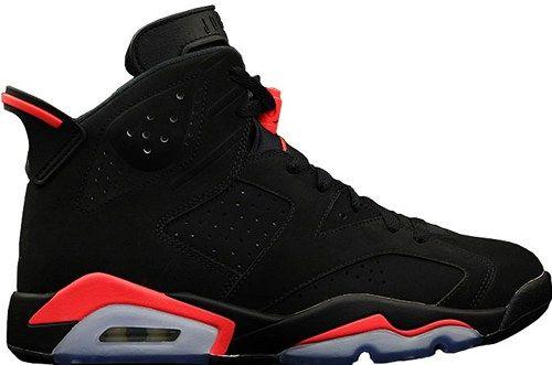 pretty nice 78b47 935ef 384664-023 Air Jordan VI 6 Black Infrared mens basketball shoes
