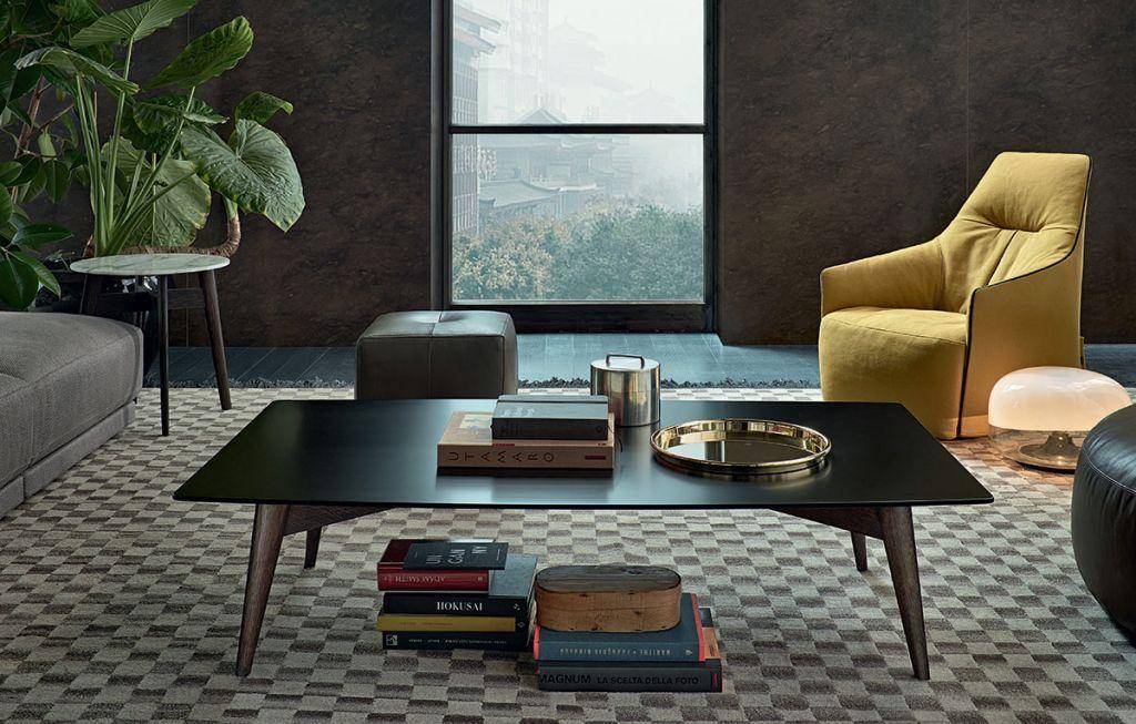 BIGGER   Tavolino quadrato By Poliform design Carlo Colombo