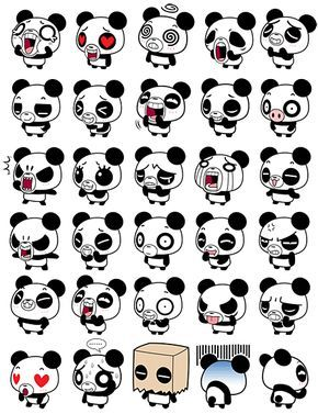 Animals Backgrounds Cute Iphone Pandas Wallpaper Emojis