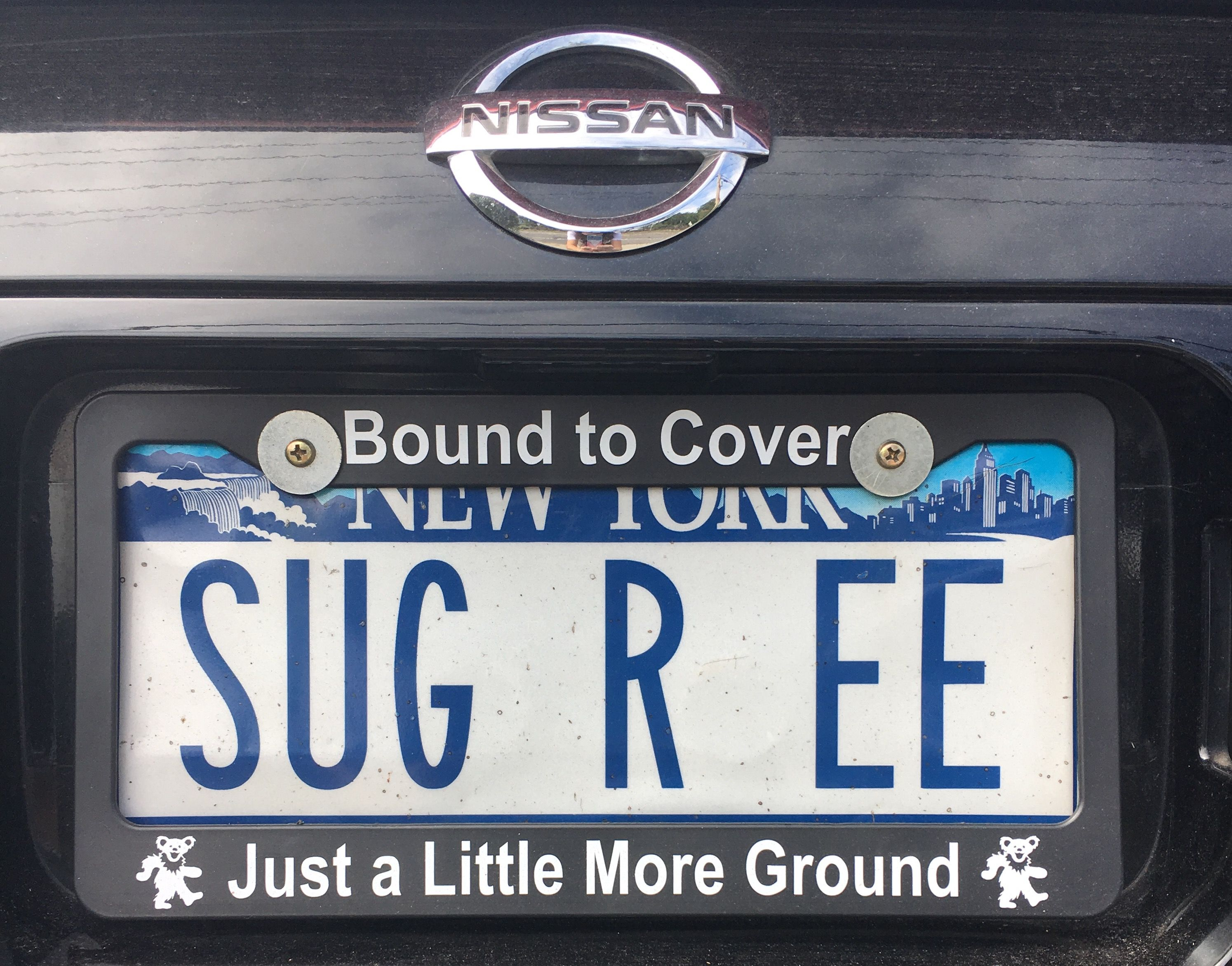 My license plate - 30 years and still bound to cover just a little ...