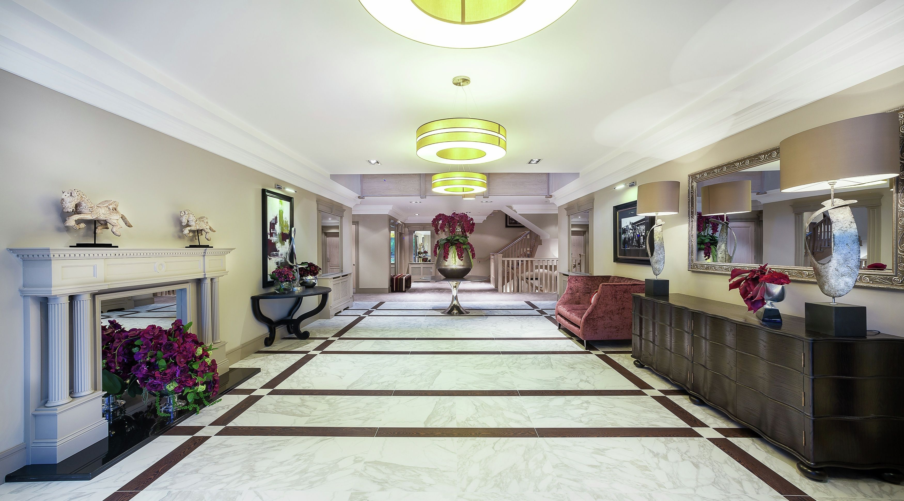 A capacious and grand corridor/ living space in Westbrook house, Millgate, Ascot