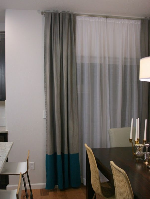 Two Pairs Of DIY Curtains For My Dining Room Plus A Double Curtain Rod