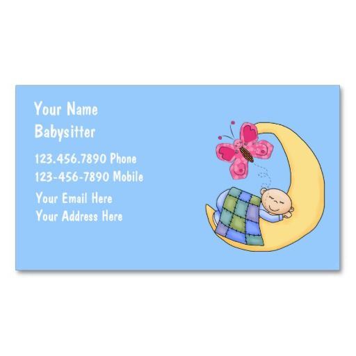 Babysitting business cards business cards and business babysitting business cards fbccfo Image collections