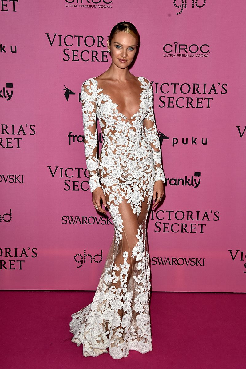All the Looks From the Victoria\'s Secret After Party | Vestido largo ...