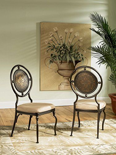 Powell Basil Antique Brown Dining Side Chair with 2Piece in 1Carton *** Click image for more details.