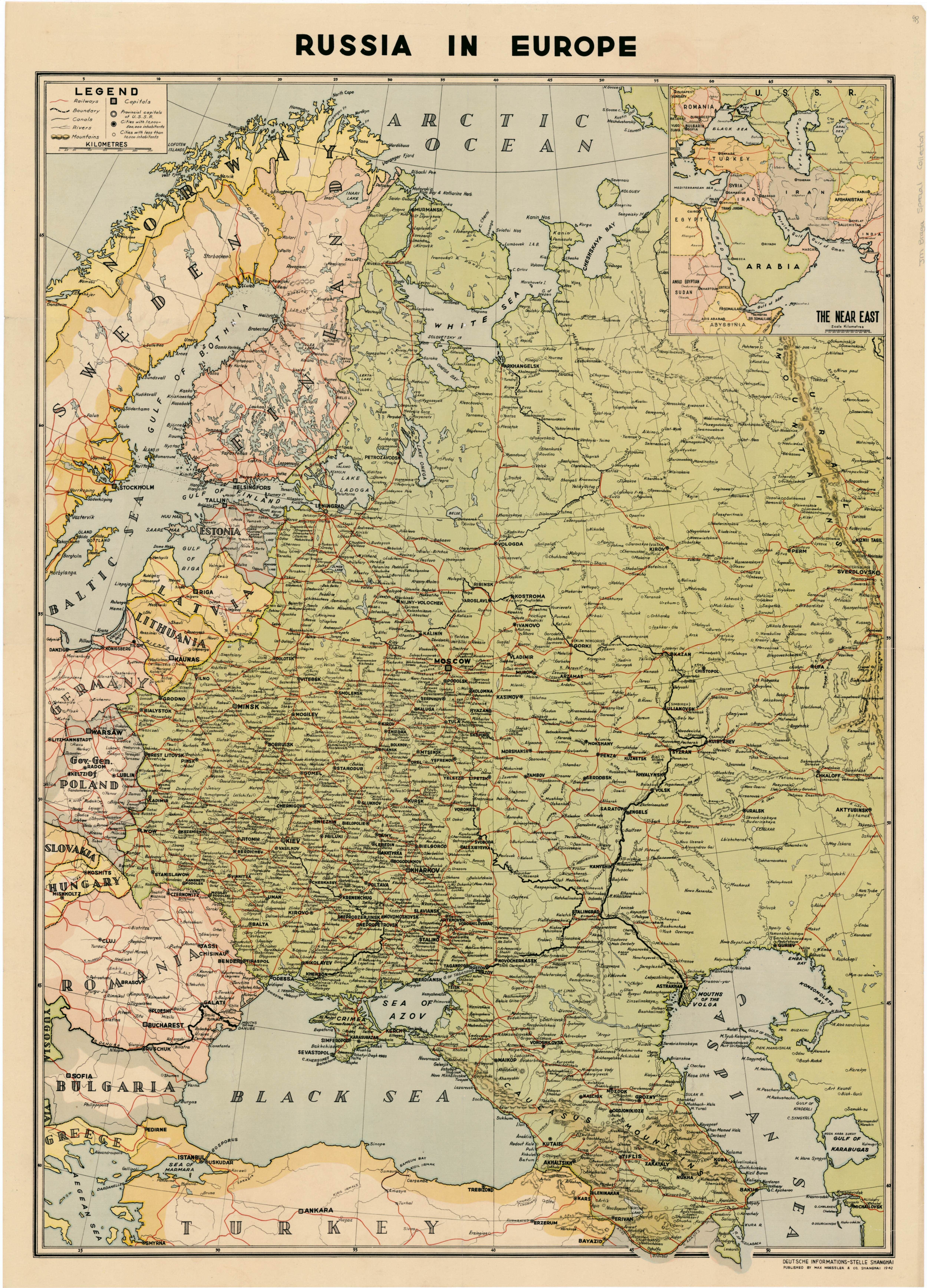 Russia in Europe (1941) | mapmania | Pinterest | Russia, Europe and Map