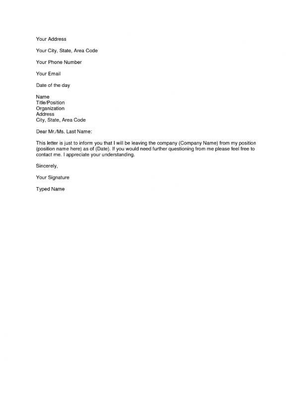 Two Weeks Resignation Letter   3sixtycyclingstudio