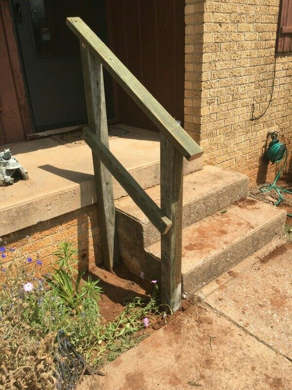 Mel And I Made A Hand Rail For My Porch Outdoor Handrail Outdoor Stair Railing Step Railing Outdoor