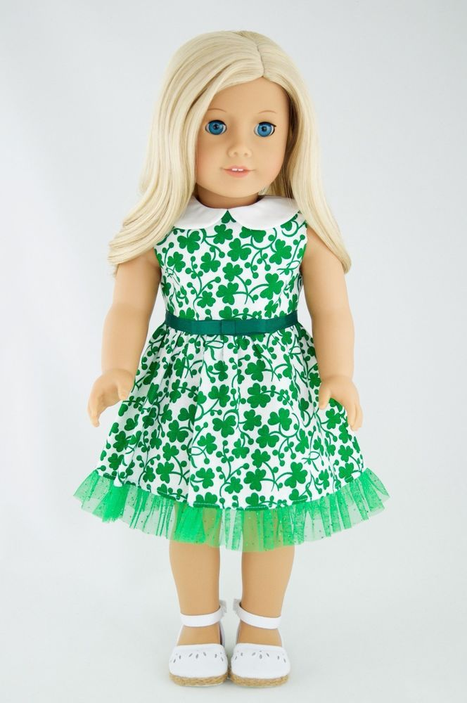 St-Patrick Dress American Made Doll Clothes For 18 Inch Girl Green Clover in | eBay