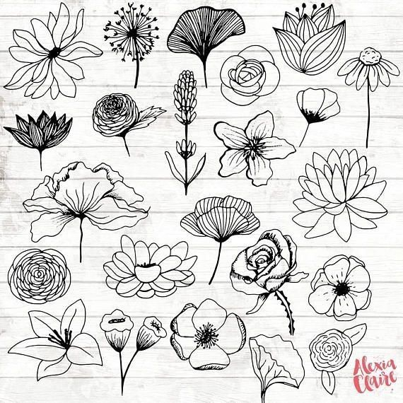 Kritzelnde Blumen #blumen #kritzelnde Stickerei –   # Check more at sketch.berke…