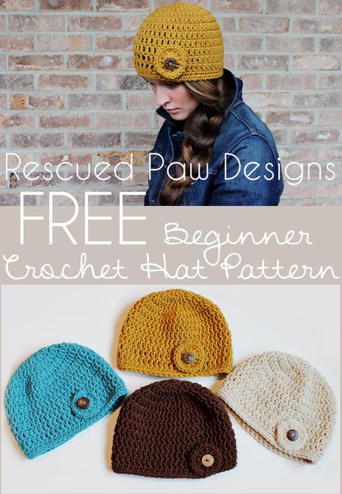 Crochet Hat Pattern - Rescued Paw Designs   Crochet Patterns ...
