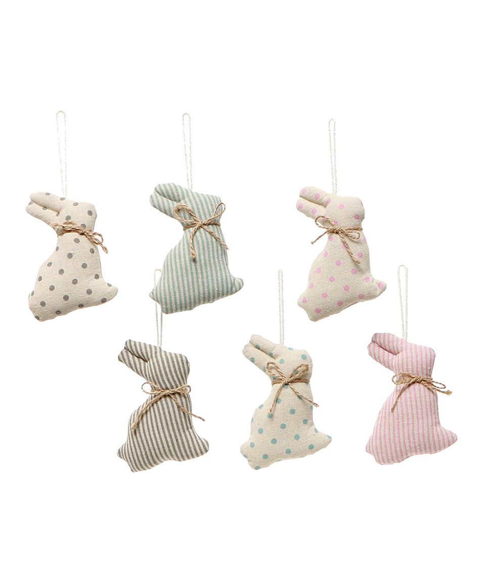 This Vintage-Inspired Muslin Bunny Ornament - Set of Six by ZiaBella is perfect! #zulilyfinds