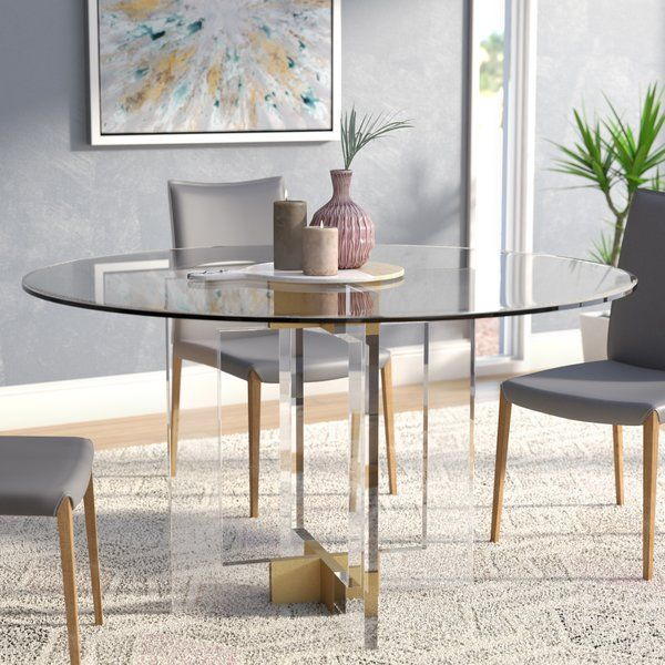 26e262b6e0d34 You ll love the Gosta Round Glass Dining Table at Wayfair - Great Deals on  all Furniture products with Free Shipping on most stuff