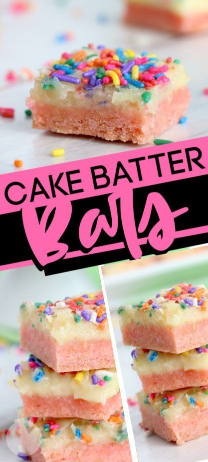 Gooey Cake Batter Bars images