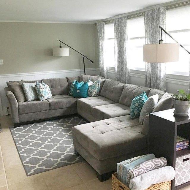 Elliot Fabric Microfiber 3 Piece Chaise Sectional Sofa Furniture