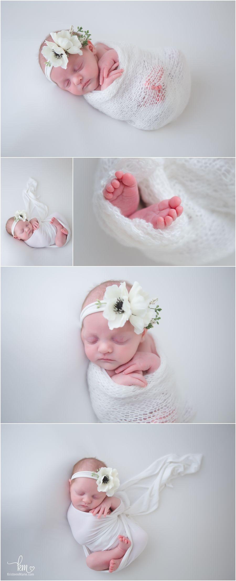 f3f64205cdde6 newborn baby in white - white newborn pictures - sleeping little ...