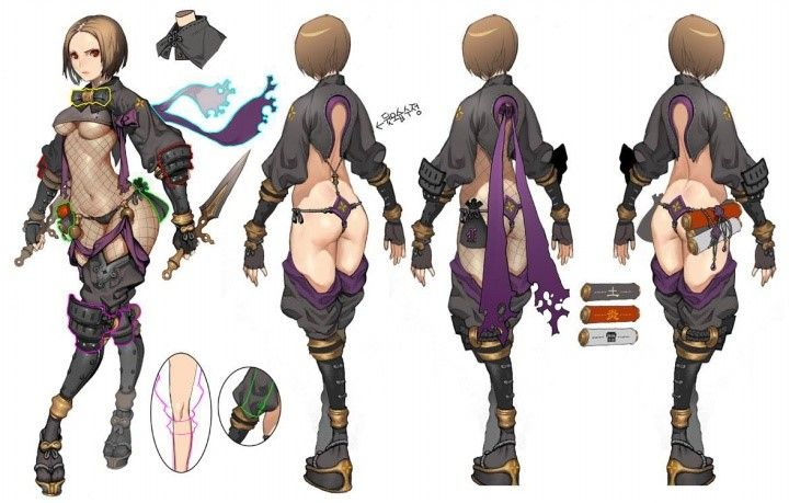concept anime character designs blade soul kim hyung tae hyung tae
