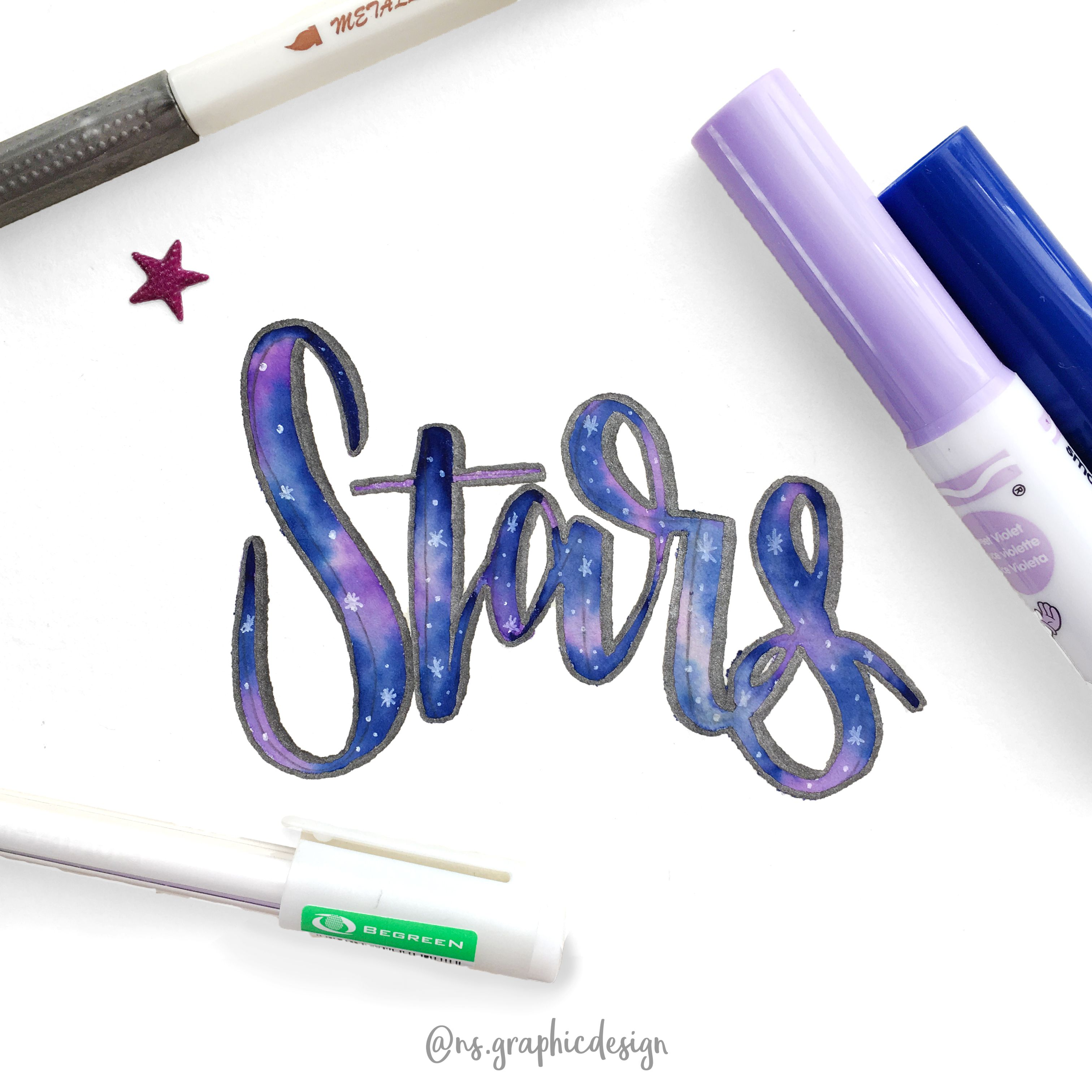 Stars This Kind Of Blending With Crayola Markers Is One Of The