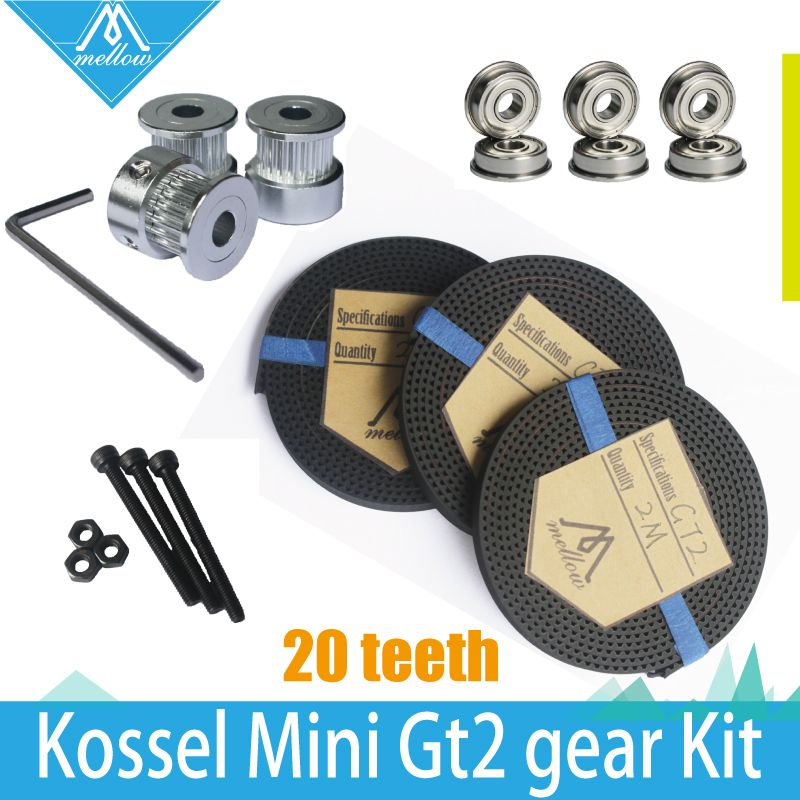 11.65US $ |HOT! 3X 2M Timing Belt GT2 20 Tooth  wheel Timing Pulley bore 5mm + F623ZZ Bearing & GT2 Gear kit  for Delta Rostock Kossel Mini|gt2 gear kit|gt2 20 toothgt2 gear - AliExpress