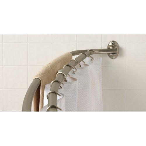 Zenith Products Double Curved Shower Rod Brushed Nickel Walmart