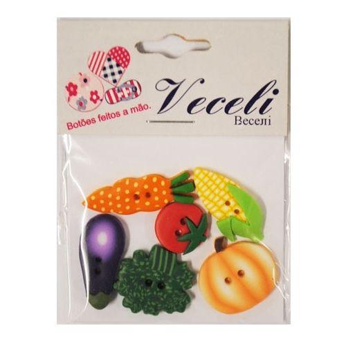 Botão legumes para artesanato, patchwork, scrapbook, roupas.