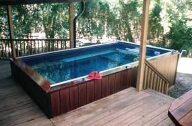 deck swimming pools above or in ground lap pools - Above Ground Fiberglass Lap Pools