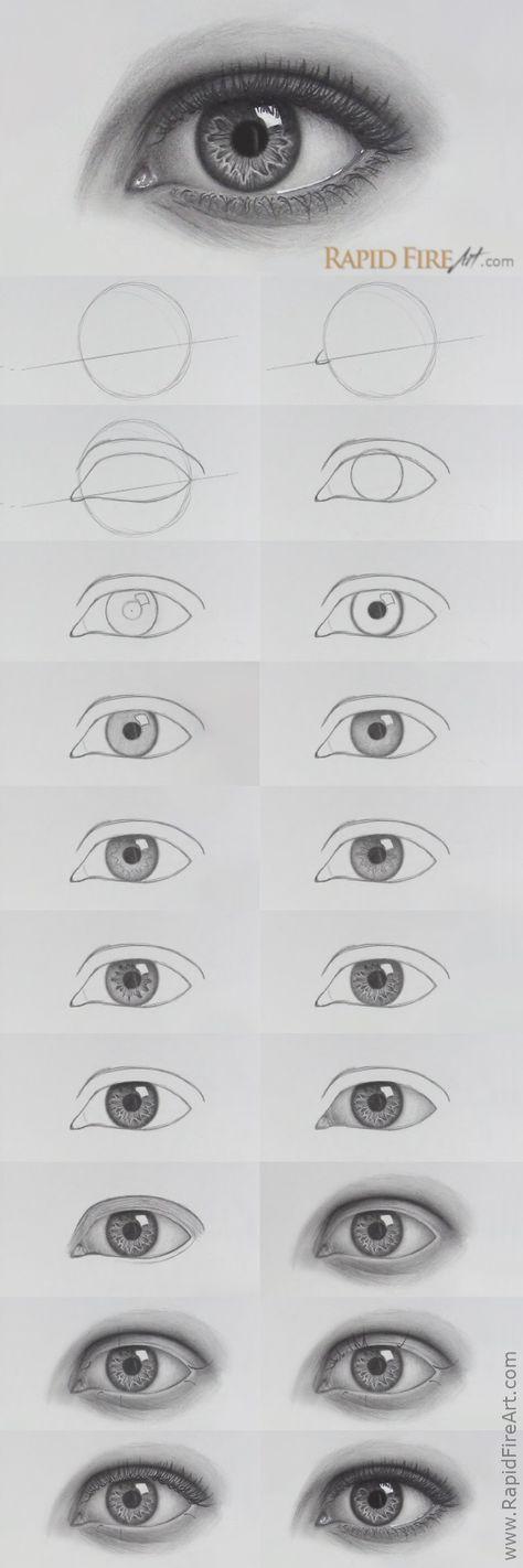 Tutorial zum Zeichnen von Augen Schattierung 50 besten Ideen #pencildrawingtutorials