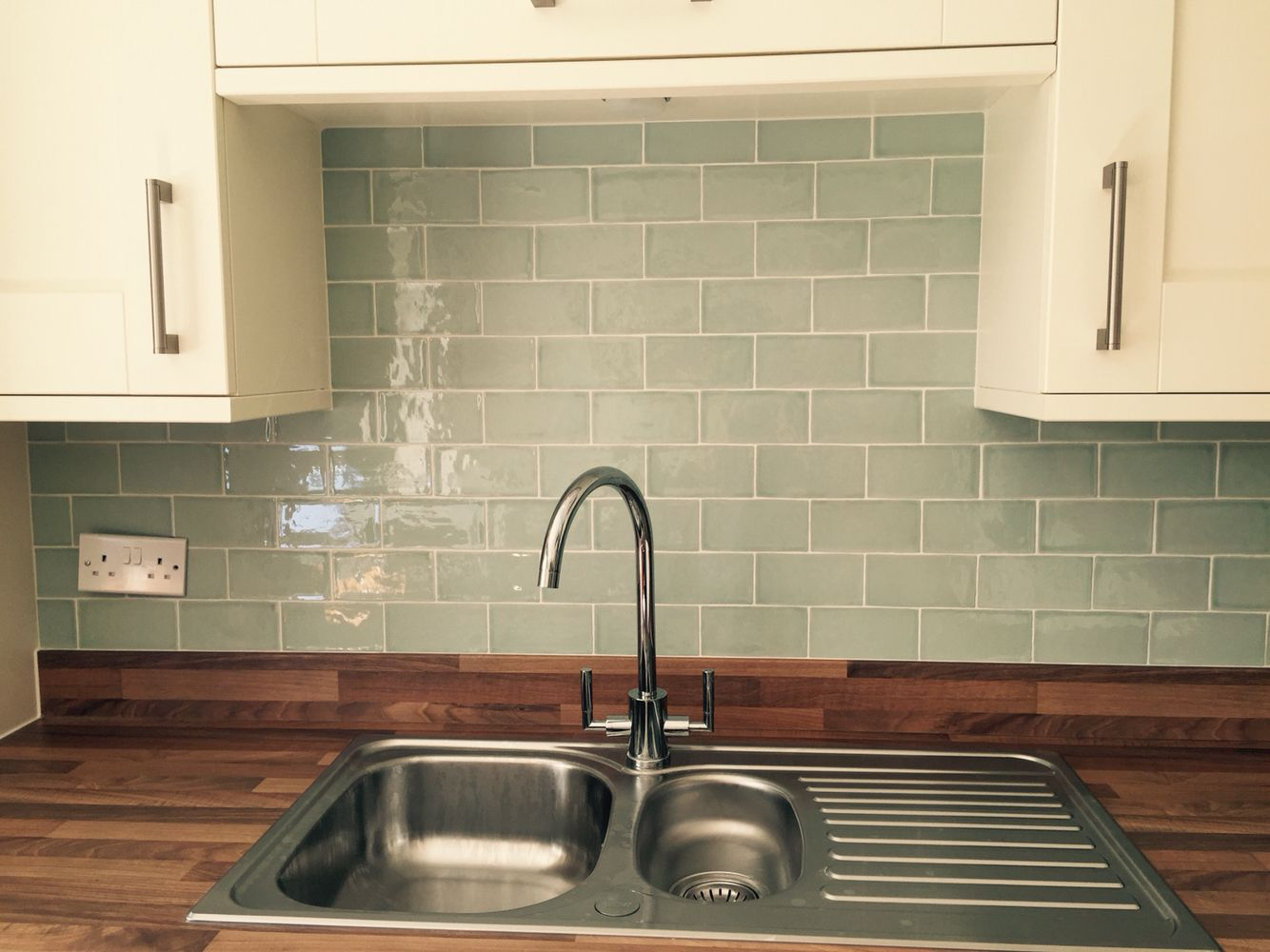 Laura Ashley Eau De Nil Tile Splashback Kitchen Pinterest