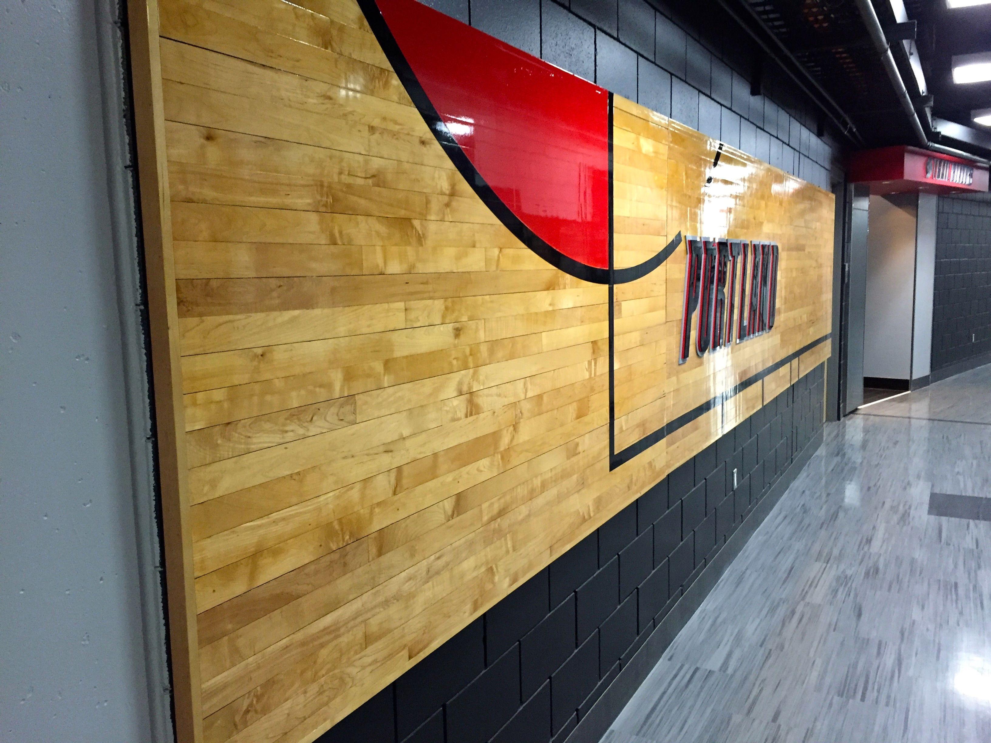 hallway wall art | Tour / Moda Center / Portland Trailblazers ...