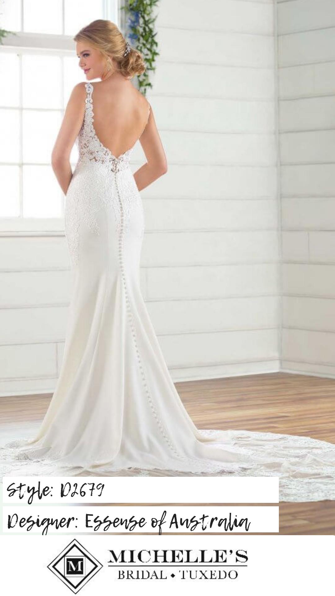 Bridal Crepe wedding dress, Essense of australia wedding