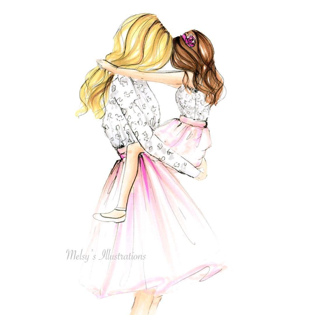 Consulta esta foto de instagram de melsysillustrations • 2529 me gusta mother and daughter drawing