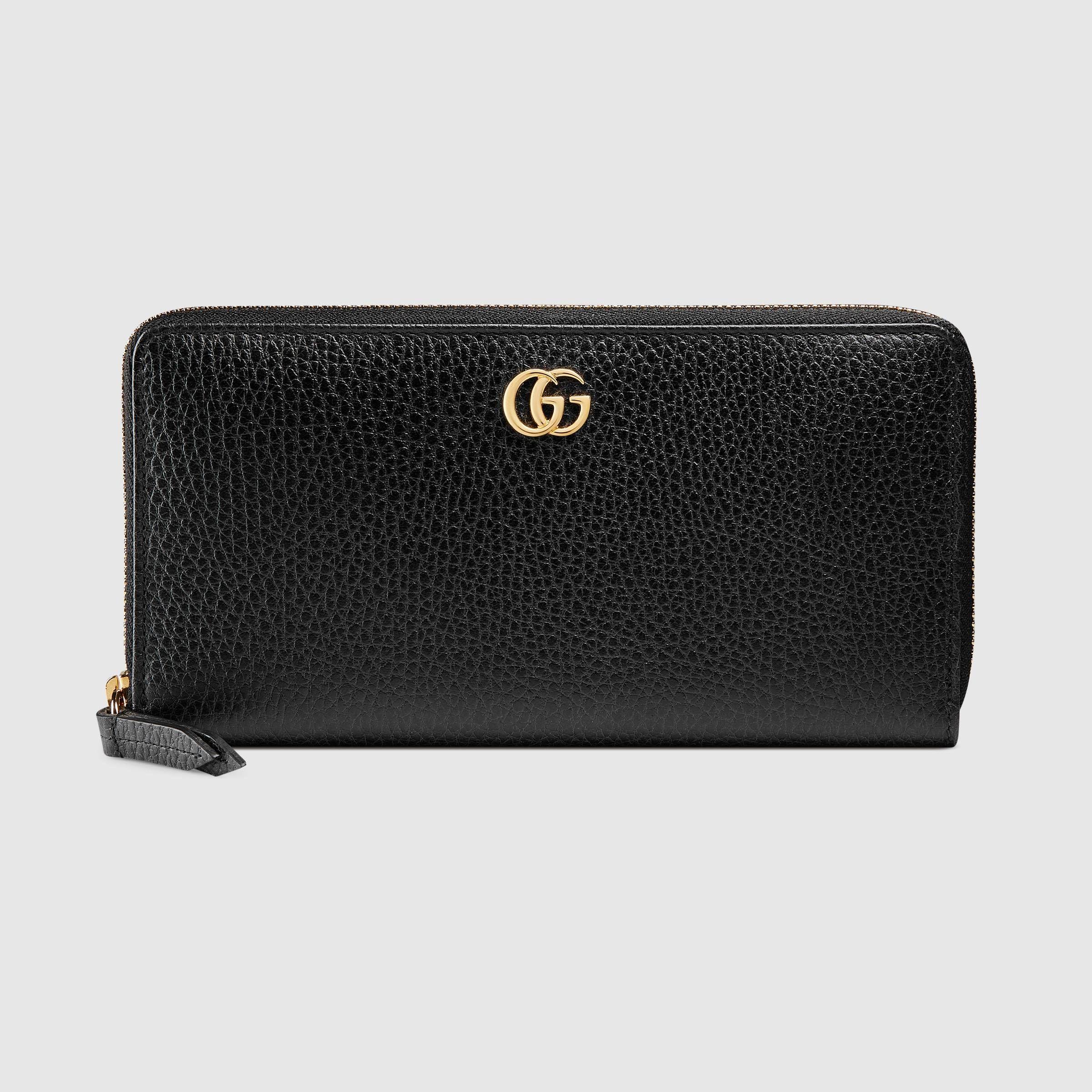 c9df6cbd0157e9 Leather zip around wallet - Gucci Women's Wallets & Small Accessories  456117CAO0G1000